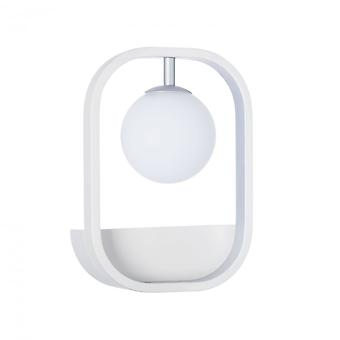 Maytoni Lighting Avola Modern Sconce, White + Silver