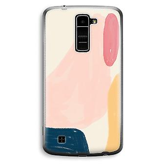LG K10 (2016) Transparent Case (Soft) - Saturday Flow