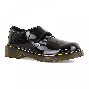 Dr. Martens Juniors Kamron patente zapatos (negro)