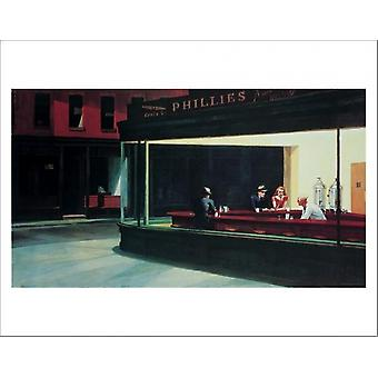 Nighthawks Poster Poster Print