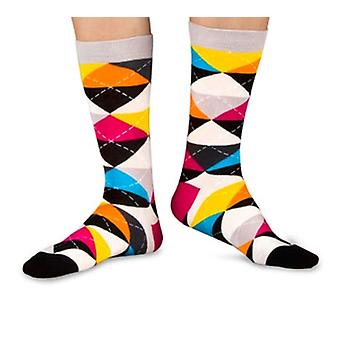 Cheer luxury combed cotton crew socks in black. Made by Ballonet