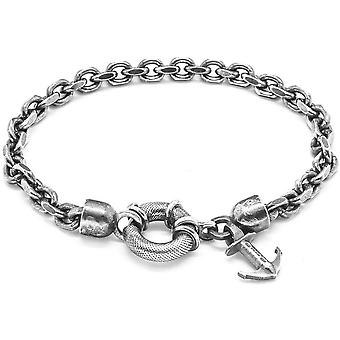 Anchor and Crew Salcombe 21cm Chain Bracelet - Silver