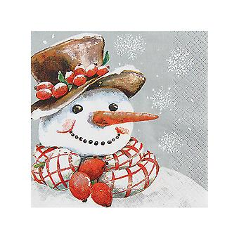 Stow Green Pack of 20 Napkins, Frosty