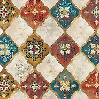 Moroccan Spice Tiles I Poster Print by  PI Studio (12 x 12)