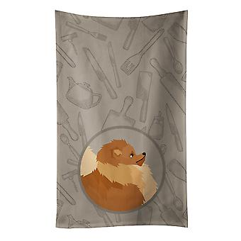 Carolines Treasures  CK2202KTWL Pomeranian In the Kitchen Kitchen Towel