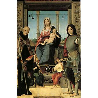 The Virgin and Child with Saints Benedict and Quent, Francesco Marmitt