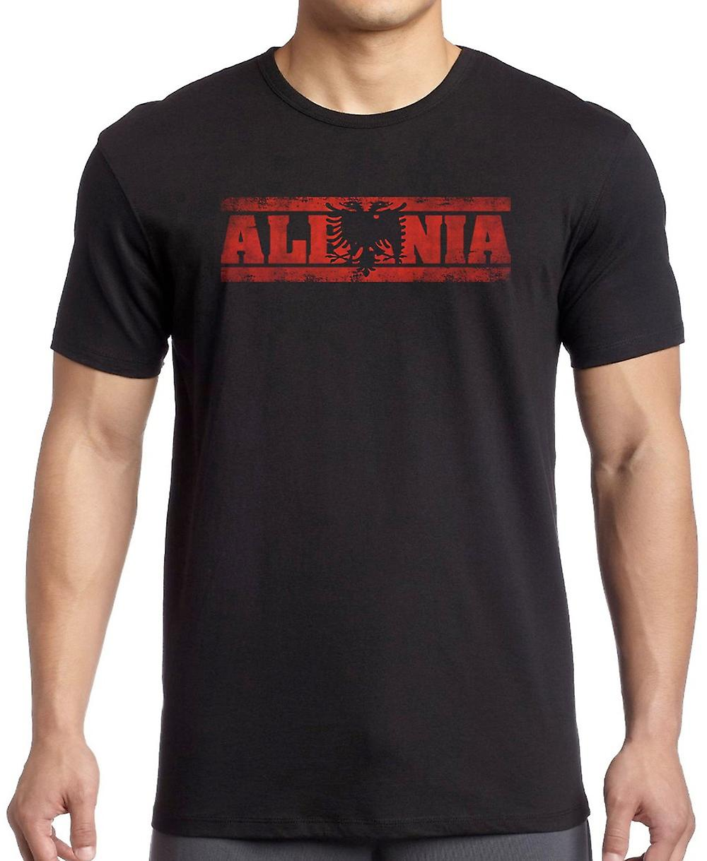 Albanian Albania Flag - Words Kids T Shirt