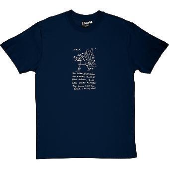 Charles Darwin Lebensbaum Skizze Herren T-Shirt