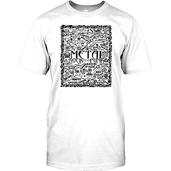 Metal Rock och Punk legender - musikaliskt Collage barn T Shirt