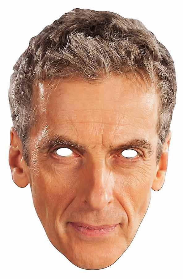 Peter Capaldi The 12th Doctor Who Card Party Card Face Mask