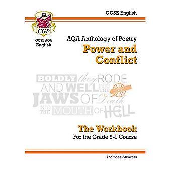 Nueva literatura inglesa GCSE AQA poesía libro: Poder y conflicto antología (incluye respuestas)