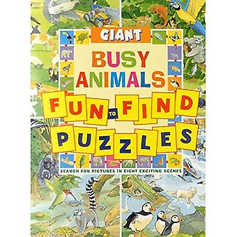 Giant Fun-to-Find Puzzles Busy Animals (Fun to Find Puzzle Books)