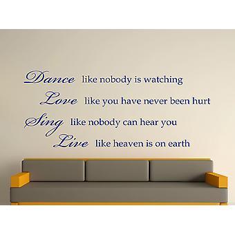 Dance Like Nobody Is Watching Wall Art Sticker - Dark Blue