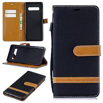 Samsung Galaxy S10 plus carte de téléphone cellulaire affaire sac protecteur housse Etui housse noir