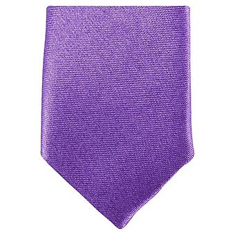 Knightsbridge Neckwear Skinny Polyester Tie - Lilac Purple