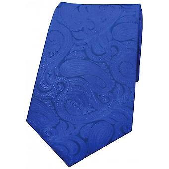 David Van Hagen luksusowych Paisley Jedwabny krawat - niebieski