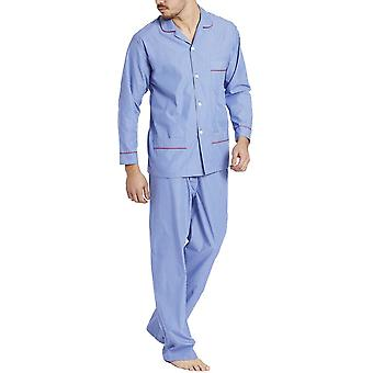 British Boxers Burford Blue And White Stripes Men's Pyjama Set