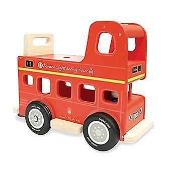 Indigo Jamm Bernie's Ride op Bus, houten speelgoed ritje op, leeftijden 12 maand Plus