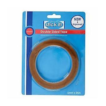 Stick It! 25m Double Sided Tape (6mm) (STI 462101)