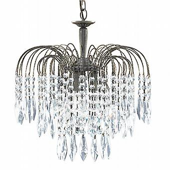 Searchlight Waterfall 8473-3AB 3 Chandelier