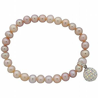 Jo For Girls Pink Freshwater Pearl & Crystal Ball Hanging Charm Bracelet 5