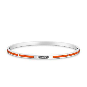 Bowling Green State University Bowling Green Engraved Enamel Bracelet In Orange