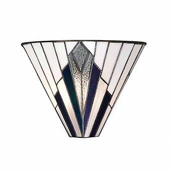1 Light Indoor Wall Uplighter Tiffany Style Glass