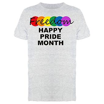 Freedom Happy Pride Month Tee Men's -Image by Shutterstock