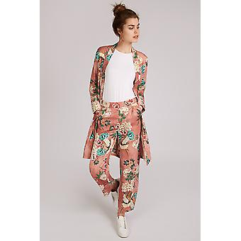JDY Felice Floral Print Trouser Pink