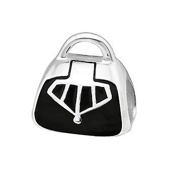 Shopping Bag - 925 Sterling Silver Plain Beads - W11116X
