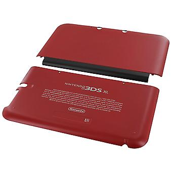 top & bottom cover plates kit for nintendo 3ds xl console (old 2012) - red