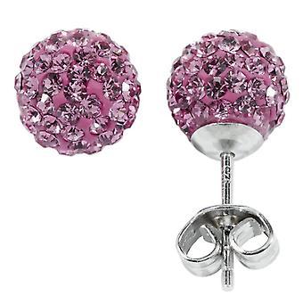 Carlo Monti - Women's lobe earrings with cubic zirconia - sterling silver 925 - cod. JCM1122-228