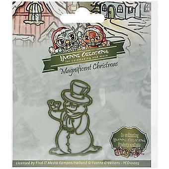 Find It Trading Yvonne Creations Magnificent Christmas Die-Snowman YCD10005