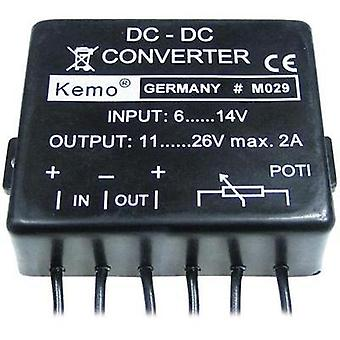 Voltage transformer Component Kemo ATT.FX.INPUT_VOLTAGE: 14 - 6 Vdc ATT.FX.OUTPUT_VOLTAGE: 11 - 26 Vdc