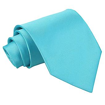 Men's Plain Robin's Egg Blue Satin Extra Long Tie