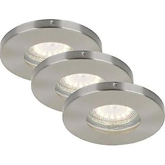 Bathroom flush mount light LED GU10 12 W IP44 Briloner Nickel (matt)