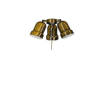 Add on light kit N 230 for Deko Elektro ceiling fans in brass