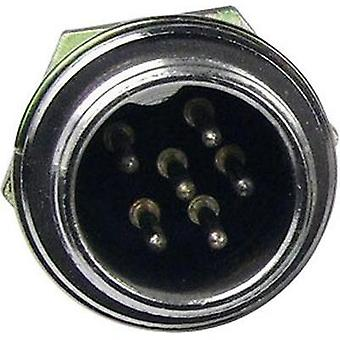 Mini DIN connector Plug, vertical mount Number of pins: 2 Silver Cliff FC684202 1 pc(s)