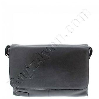 Plover Business/laptop Messenger full grain cowhide leather 2-compartment 15.6