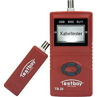 Testboy Testboy 28 Cable tester Suitable for USB, RJ11, RJ45 and BNC cables