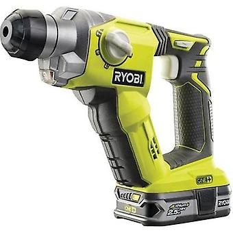 Ryobi R18SDS-L25S One+ SDS-Plus-Cordless hammer drill combo, Cordless hammer drill 18 V 2.5 Ah Li-ion incl. rechargeabl