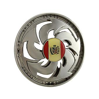 Large Peruvian Flag Spinning Belt Buckle Spinner Peru