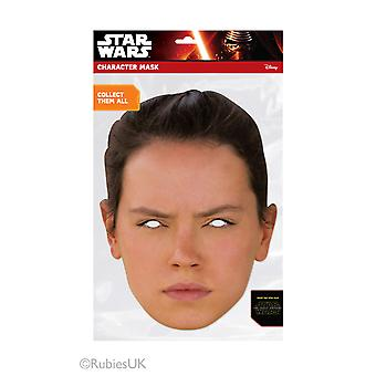 Rey Official Star Wars The Force Awakens Card Party Face Mask