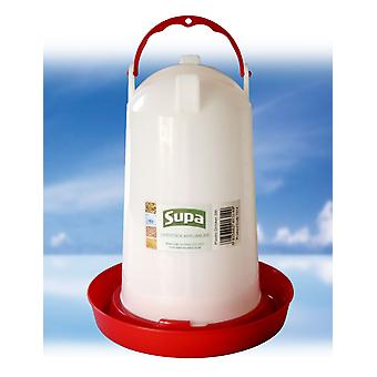 Supa Poultry Drinker Red & White 3ltr