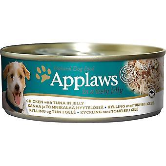 Applaws hund kan kylling med tun i Jelly 156g (pakke med 12)