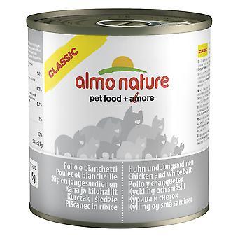 Almo Nature klassisk kat kylling og hvid agn 280g (pakke med 12)