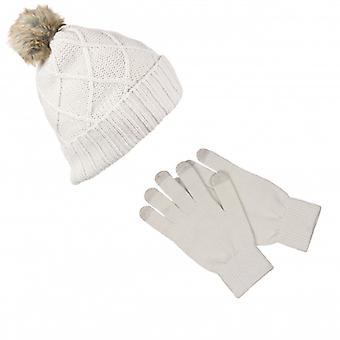 KITSOUND Headphone Beanie Kit incl. glove White