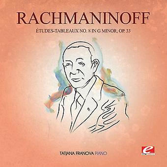 Rachmaninow - Etudes-Tableaux 8 G Min 33 USA import