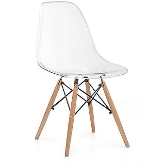 Superstudio Wooden chair -Clear Edition - Transparent