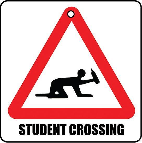 Student kruising auto luchtverfrisser